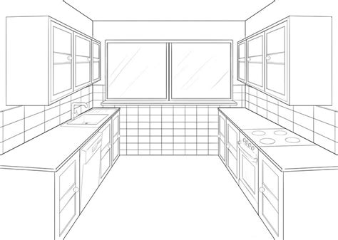 kitchen perspective by amanduur on deviantart