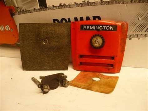 remington mighty mite chainsaw air filter cover filter and bracket k chainsawr