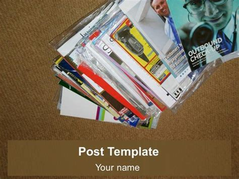 Free Post Powerpoint Template Presentation Magazine Free Powerpoint Template