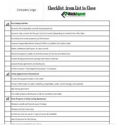 real estate closing checklist template real estate checklist listing real estate forms realtor