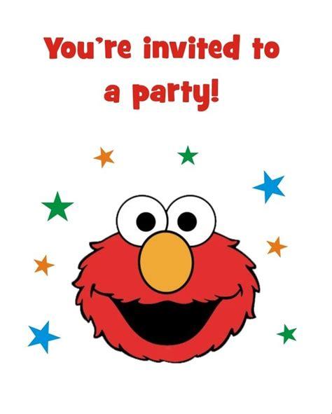 printable birthday cards elmo elmo free printable birthday party invitation personalized