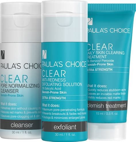 Paulas Choice Clear Kit Strenght Travel Size paula s choice skin perfecting 8 aha gel exfoliant with glycolic acid soothing