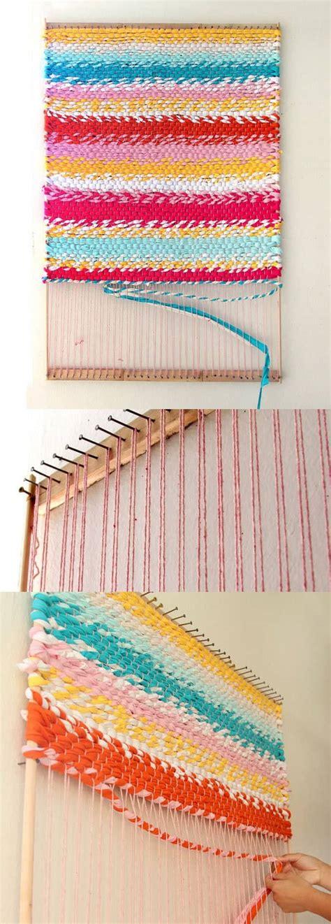 diy rag rug loom weave a t shirt rug with easy diy loom a of rainbow