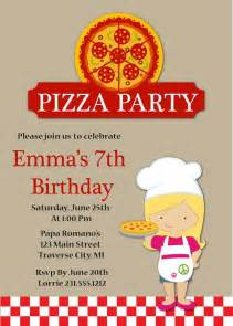 pizza birthday invitation pizza invitation printable invitations