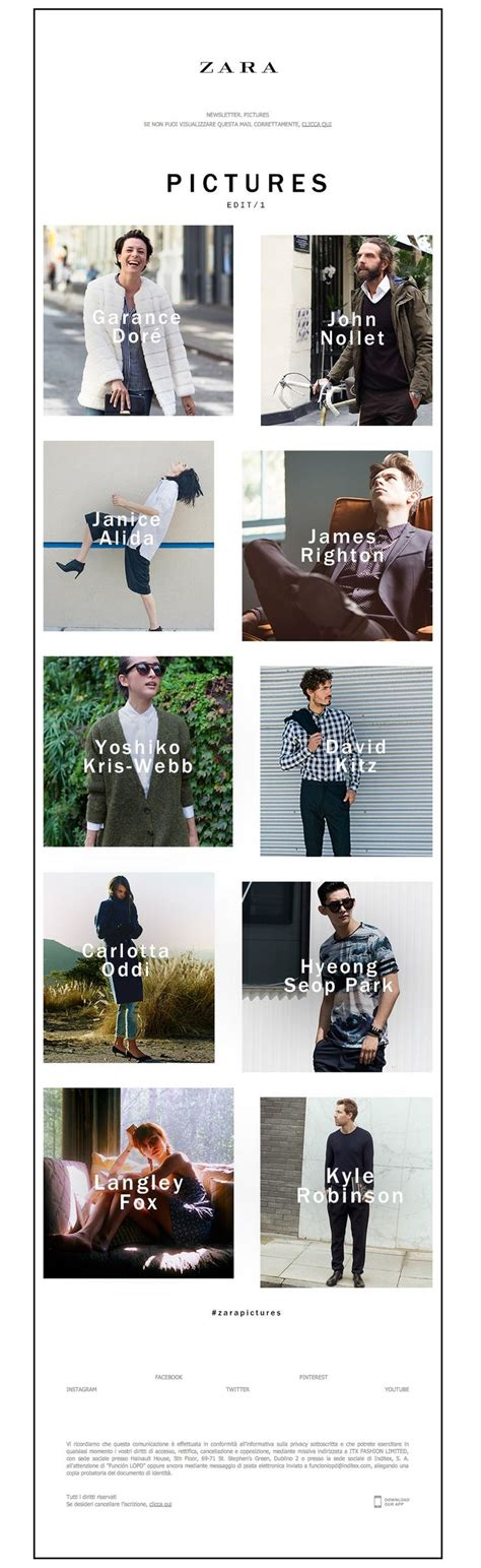 38 best images about fashion newsletters on zara home email newsletter templates 38 best zara design images on design layouts email design and web layout