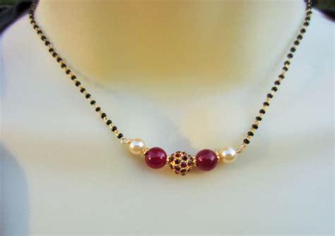 black necklace designs india studded mangalsutra mangalsutra
