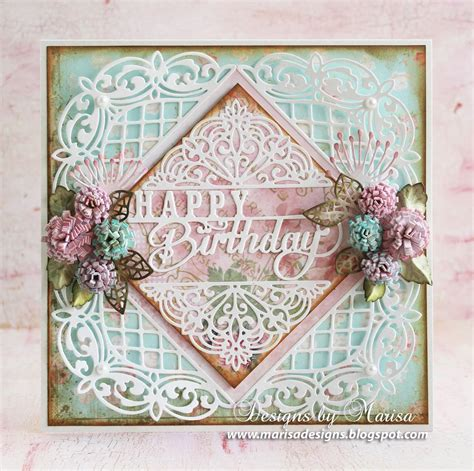 Cutting Dies Happy Birthday Card Patern designs by marisa happy birthday card craft dies by sue wilson