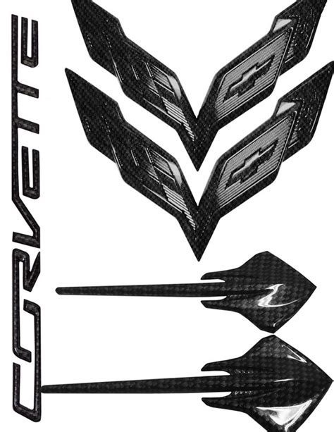 c7 corvette emblem c7 corvette stingray 2014 hydro carbon fiber emblem
