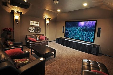 basement home theater glass door staircase ideas
