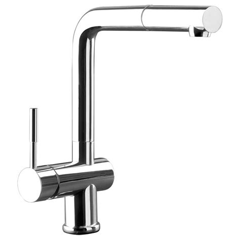 Gessi Oxygen Pull Out Rinse Kitchen Mixer Brushed Nickel