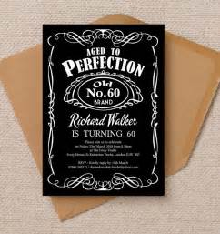 whiskey label themed 60th birthday party invitation 60th