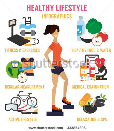 sport fitness a guide to a healthier lifestyle books healthy lifestyle infographic fitness healthy food stock