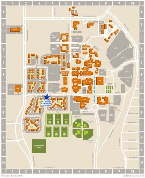 university of texas at dallas map image of garden location