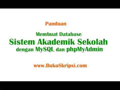 membuat database perpustakaan menggunakan mysql sistem informasi perpustakaan dengan php doovi