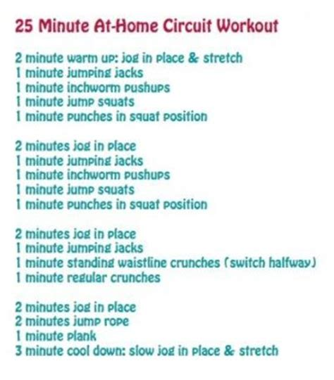 25 min at home circuit workout fitness juxtapost