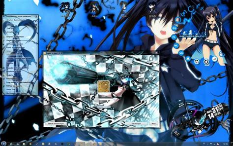 themes in black rock download themes black rock shooter windows 7