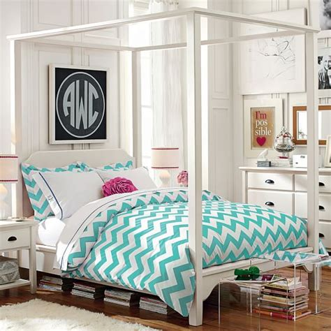 beds for teens chatham canopy bed pbteen