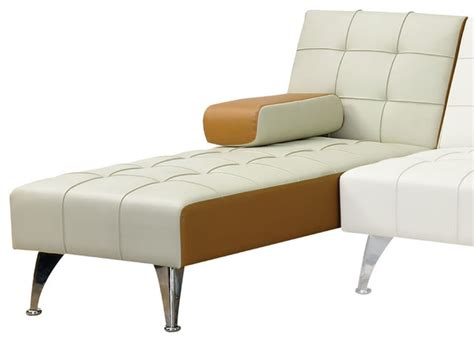 brown chaise lounge indoor acme furniture lytton adjustable chaise beige and brown