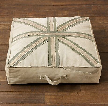 restoration hardware stool cushions union recycled canvas floor pillow playroom