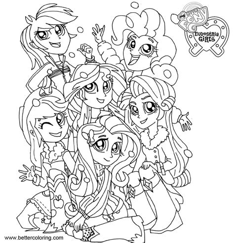 My Pony Equestria Coloring Pages