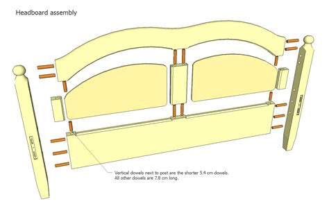 bed frame assembly double bed plans