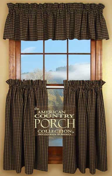 Black Check Curtains New Black Tea Dyed Check Curtain Valances