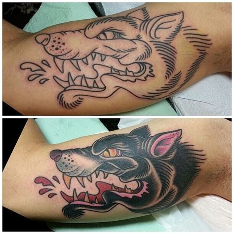 wolf inner arm by henry quiles electric needle hut in