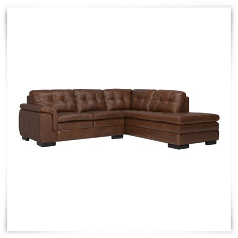 Leather Bumper city furniture trevor md brown leather small right bumper