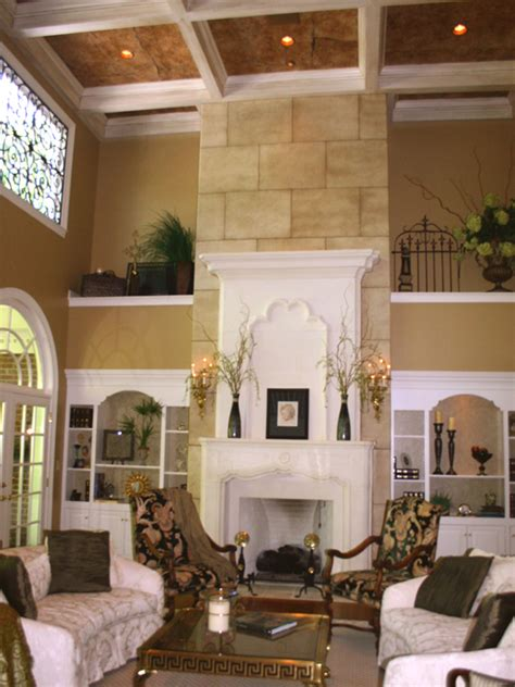 Two Story Fireplace | two story stone fireplace