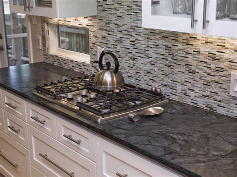 gray backsplash dark cabinets black and gray rectangle small tile back splash combined