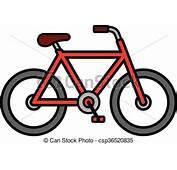Vectores De Bicicleta Contorno Colorido Caricatura
