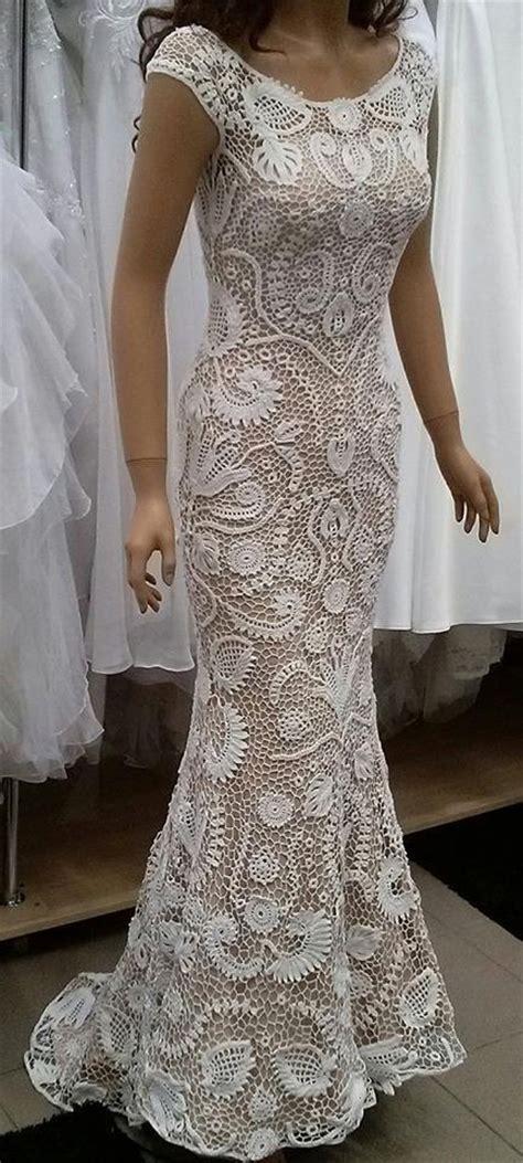 Cc Dress Lace Square unique crochet wedding dress custom made by laiminga