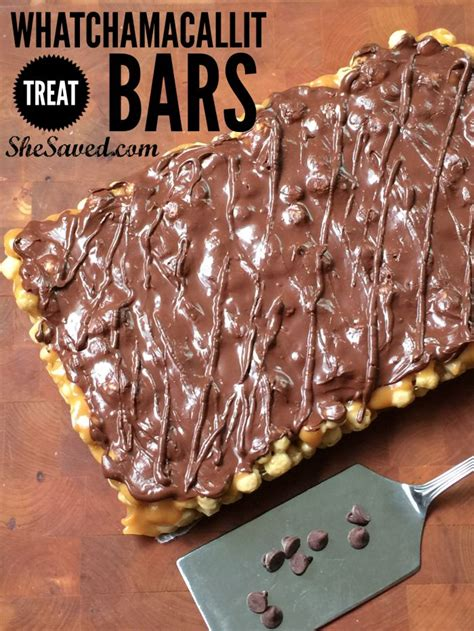 copycat whatchamacallit candy bar recipe shesaved