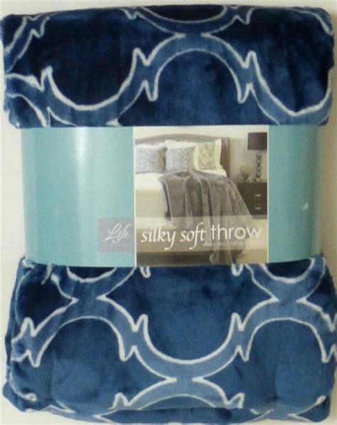 life comfort silky soft throw life comfort silky soft throw blanket dark blue geometrics