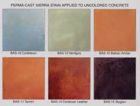 stained concrete colors behr concrete stain countertops studio design