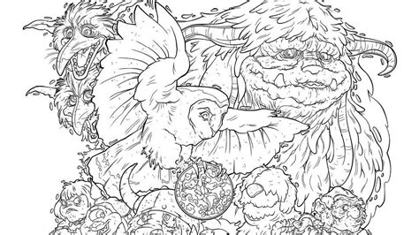 coloring book exclusive gain the power of voodoo with labyrinth coloring