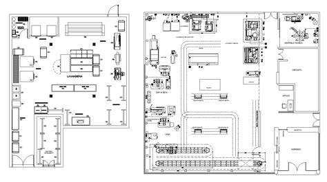 hospital laundry layout plan cad dwg laundry plans cad design free cad blocks drawings details