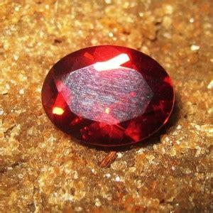 Merah Oval Cutting jual batu permata garnet merah pyrope oval cut 1 61 carat vsi