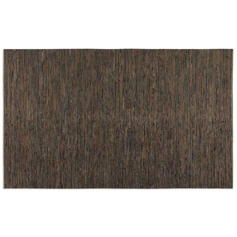 Leather Woven Rug by Culver Rescued Leather Woven Rug 71043