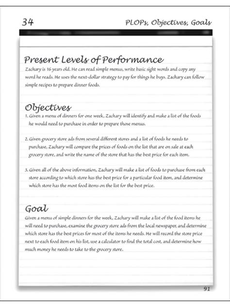 measurable goals and objectives template writing measurable iep goals and objectives