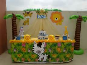decoraci 243 n para mesas de baby shower safari imagui