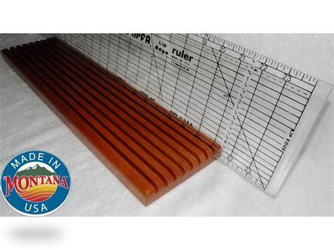 quilting ruler holder 8 slot solid mahogany 0804201305