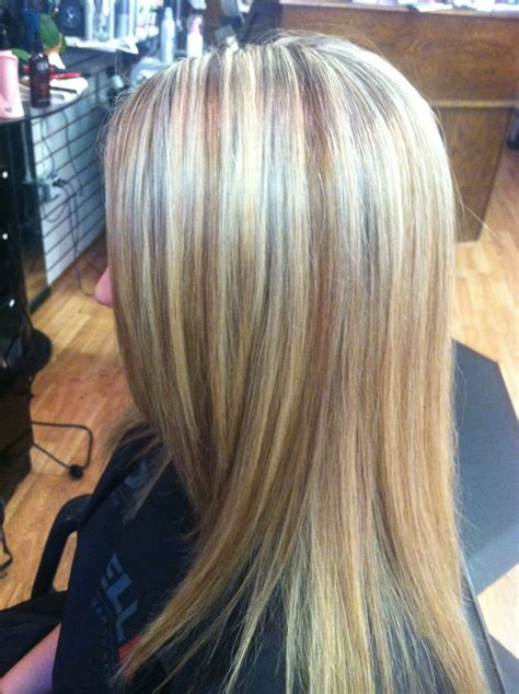 high and low lights for blond hair high lights and copper gold mocha low lights bridgette at