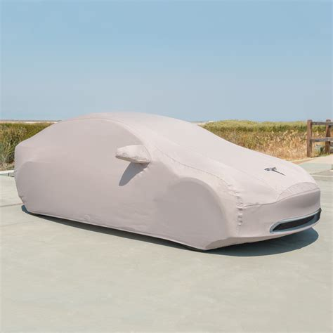 tesla outside tesla adds model 3 car cover as optional accessory to