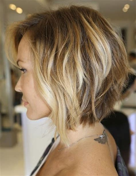 neck length hairstyles for fine hair neck length layered bob popular haircuts