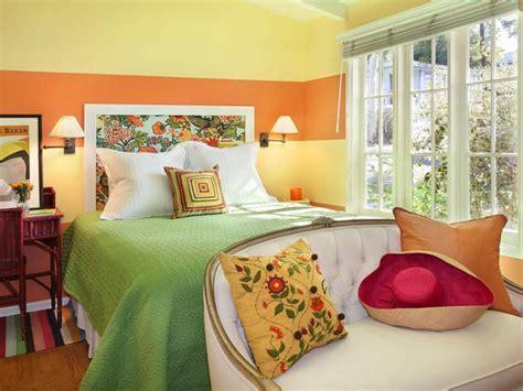 Orange Yellow Bedroom by Mix Patterns Like A Pro Hgtv