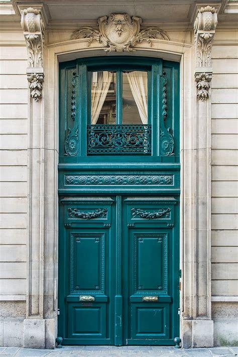 most beautiful door color paris photography french door travel photograph teal