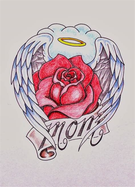 rose tattoo with angel wings 70 most attractive flower tattoos golfian