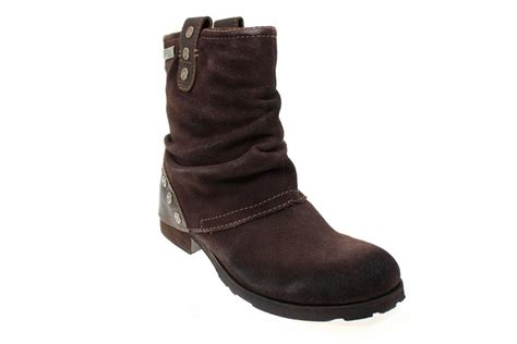 replay boots replay odeta womens brown suede leather studded shoes