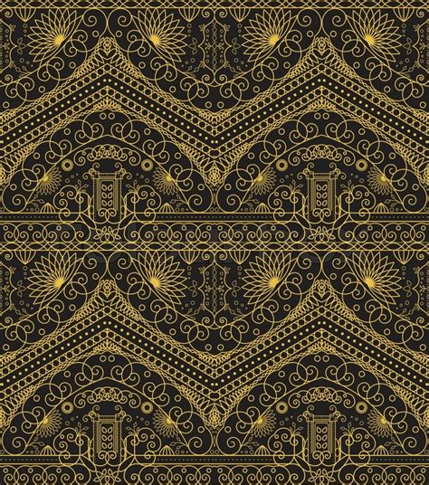 seamless pattern wiki seamless texture with luxury arabic ornament vector
